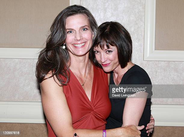Actresses Terry Farrell and Nana Visitor attend Day 2 of the Official Star Trek Convention at the Rio Las Vegas Hotel Casino on August 12 2011 in Las...