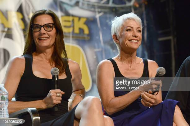 Actresses Terry Farrell and Nana Visitor attend Day 4 of Creation Entertainment's 2018 Star Trek Convention Las Vegas at the Rio Hotel Casino on...