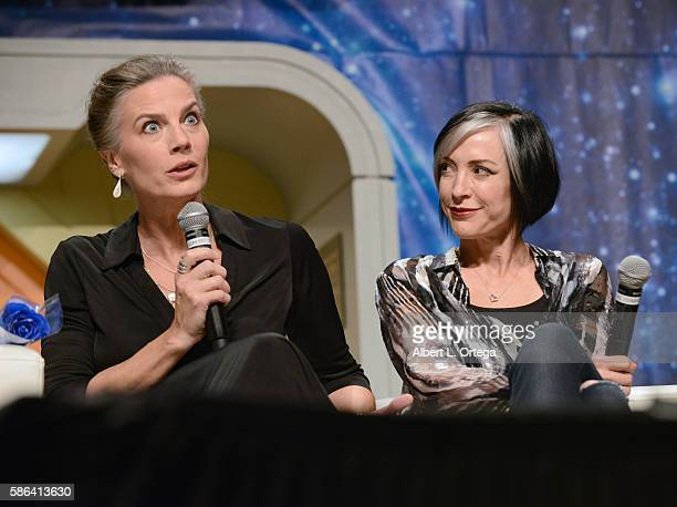 Actresses Terry Farrell and Nana Visitor on day 3 of Creation Entertainment's Official Star Trek 50th Anniversary Convention at the Rio Hotel Casino...