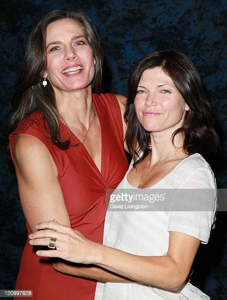 Actresses Terry Farrell and Nicole de Boer attend Day 2 of the Official Star Trek Convention at the Rio Las Vegas Hotel Casino on August 12 2011 in...