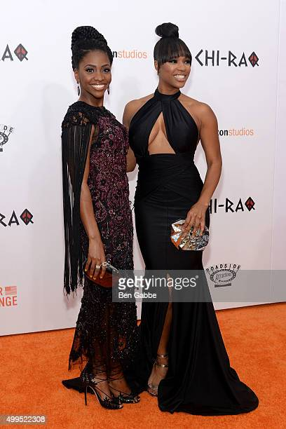 Actresses Teyonah Parris and Michelle Mitchenor attend the 'CHIRAQ' New York Premiere at Ziegfeld Theater on December 1 2015 in New York City