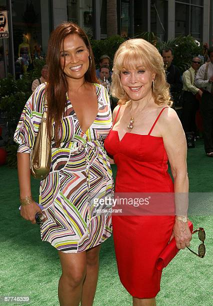 Actresses Tia Carrera and Barbara Eden arrive on the red carpet for the Los Angeles premiere of Up at the El Capitan Theatre on May 16 2009 in...