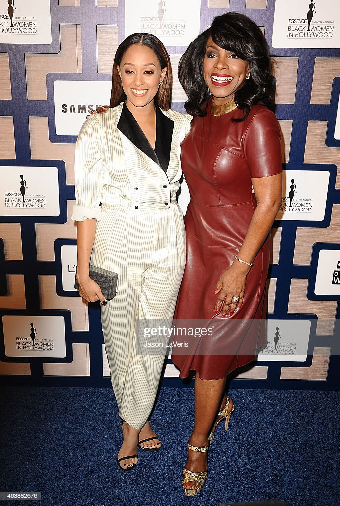 Actresses Tia Mowry and Sheryl Lee Ralph attend the 8th annual ESSENCE Black Women In Hollywood luncheon at the Beverly Wilshire Four Seasons Hotel on February 19, 2015 in Beverly Hills, California.