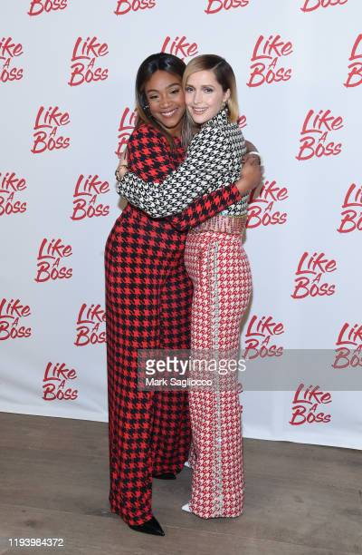 Actresses Tiffany Haddish and Rose Byrne attend the Like A Boss Photo Call at the Whitby Hotel on December 14 2019 in New York City