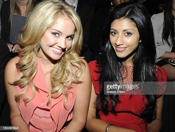 Actresses Tiffany Thornton and Reshma Shetty attend BCBG Max Azria during MercedesBenz Fashion Week Spring 2010 at Bryant Park on September 10 2009...
