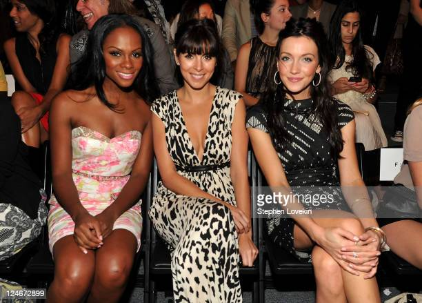 Actresses Tika Sumpter JamieLynn Sigler and Katie Cassidy attend the Tracy Reese Spring 2012 fashion show during MercedesBenz Fashion Week at The...