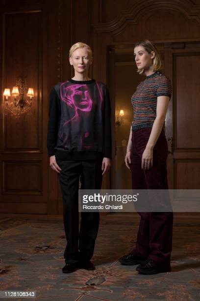 Actresses Tilda Swinton Honor Byrne pose for a portrait during the 69th Berlinale International Film Festival on February 13 2019 in Berlin Germany