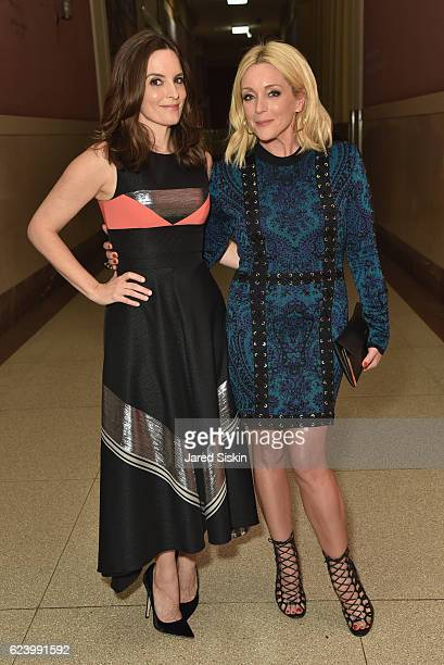 Actresses Tina Fey and Jane Krakowski attend the American Museum of Natural History's 2016 Museum Gala at American Museum of Natural History on...