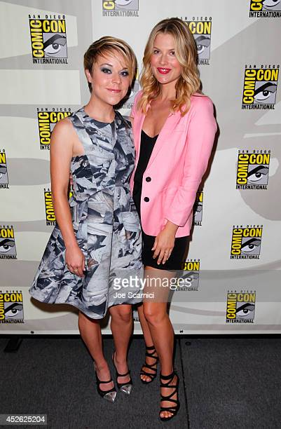 Actresses Tina Majorino and Ali Larter attend TNT's 'Legends' panel during ComicCon International San Diego 2014 at San Diego Convention Center on...