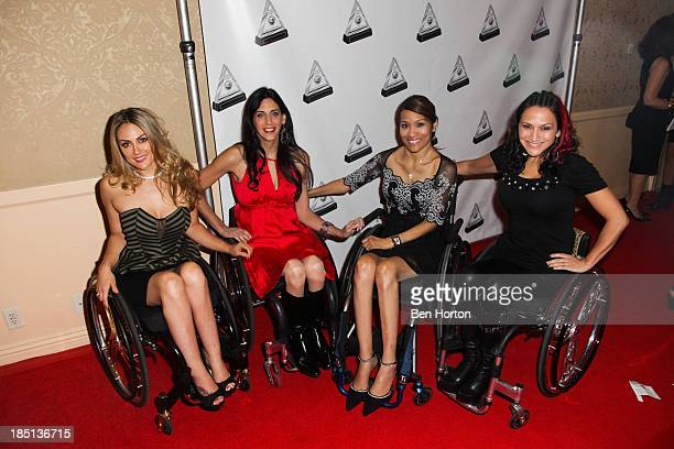 Actresses Tiphany Adams Mia Schaikewitz Angela Rockwood and Auti Angel attend the 2013 Media Access Awards at The Beverly Hilton Hotel on October 17...