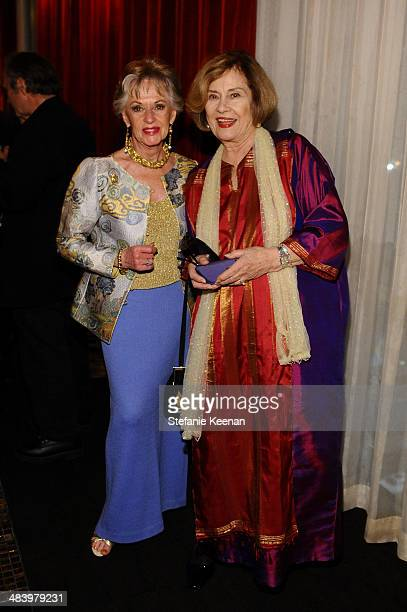 Actresses Tippi Hedren and Diane Baker attend the after party for the opening night gala screening of Oklahoma during the 2014 TCM Classic Film...