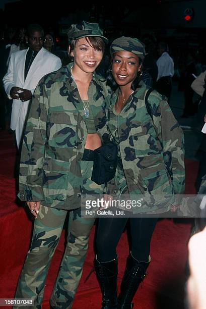 Actresses Tisha Campbell and Tichina Arnold attending the peremiere of 'Independence Day' on June 25 1996 at Mann Village Theater in Hollywood...