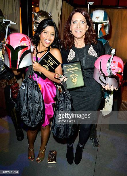 Actresses Tiya Sircar and Vanessa Marshall attend Hitfix and Lucasfilm's ComicCon Kick off party during ComicCon International 2014 at Hotel Solamar...