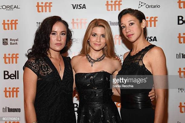 Actresses TommieAmber Pirie Elise Bauman and Mayko Nguyen attend the 'Below Her Mouth' premiere during the 2016 Toronto International Film Festival...