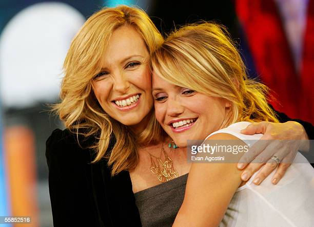 Actresses Toni Collette and Cameron Diaz make an appearance on MTV's Total Request Live to promote their new film In Her Shoes at MTV Studios October...