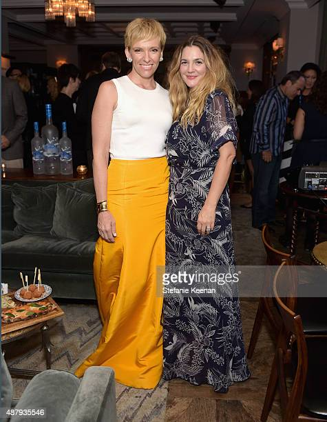Actresses Toni Collette and Drew Barrymore attend the Miss You Already TIFF party hosted by GREY GOOSE Vodka and Soho House Toronto at Soho House...