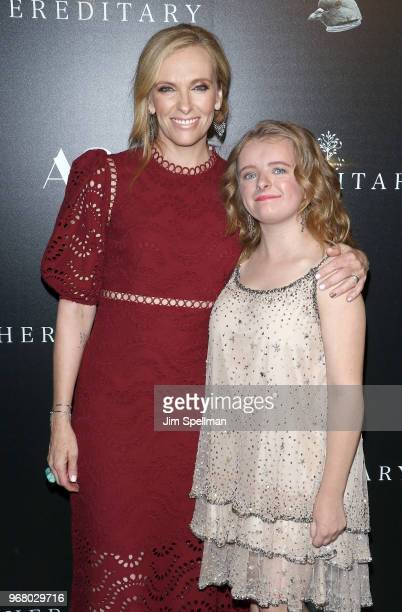 Actresses Toni Collette and Milly Shapiro attend the screening of Hereditary hosted by A24 at Metrograph on June 5 2018 in New York City
