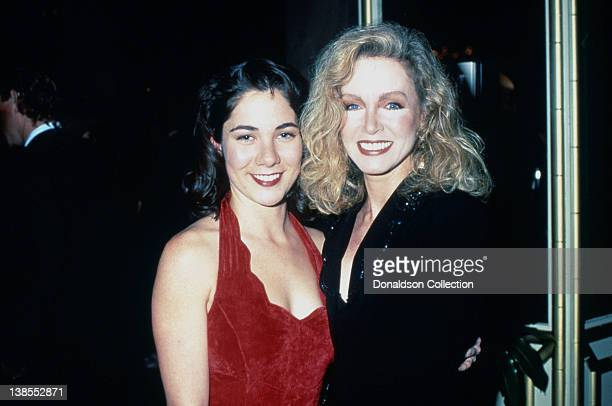 Actresses Tonya Crowe and Donna Mills attend an event in 1993 in Los Angeles California