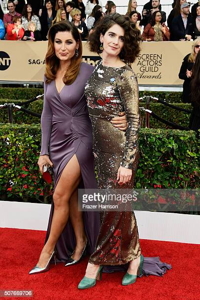 Actresses Trace Lysette and Gaby Hoffmann attend the 22nd Annual Screen Actors Guild Awards at The Shrine Auditorium on January 30 2016 in Los...