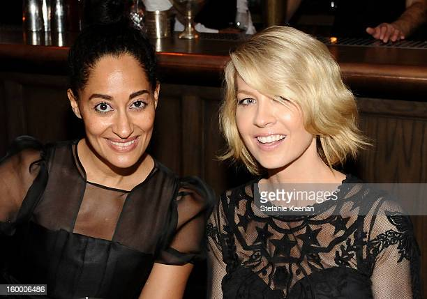 Actresses Tracee Ellis Ross and Jenna Elfman attends the ELLE's Women in Television Celebration at Soho House on January 24 2013 in West Hollywood...