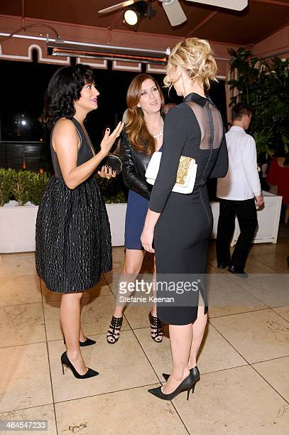 Actresses Tracee Ellis Ross Kate Walsh and Jenna Elfman attend ELLE's Annual Women in Television Celebration on January 22 2014 in West Hollywood...