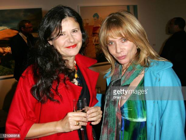 Actresses Tracey Ullman and Rosanna Arquette arrive at Artist Tierney Gearon Hosts Dinner Party for Explosure When Exhibition at ACE Gallery on...