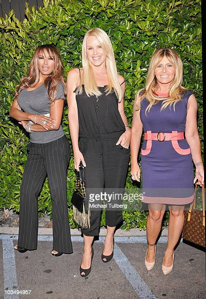 Actresses Traci Bingham Gena Lee Nolan and Nicole Eggert arrive at the Baywatch Reunion Dinner at the XIV restaurant on August 19 2010 in Los Angeles...