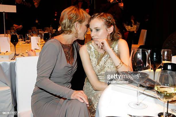 Actresses Uschi Glas and Diane Kruger attend the Goldene Kamera 2010 Award at the Axel Springer Verlag on January 30 2010 in Berlin Germany