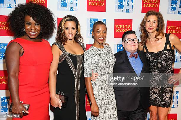 Actresses Uzo Aduba Dascha Polanco Samira Wiley Lea DeLaria and Alysia Reiner attend the LA Gay Lesbian Center's 42nd Anniversary Vanguard Awards...