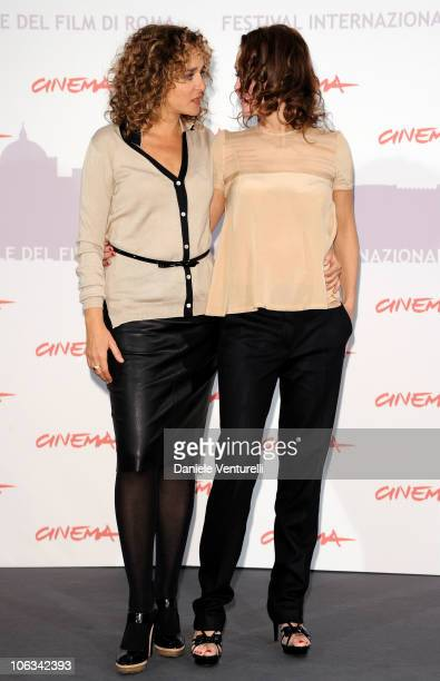 Actresses Valeria Golino and Antonella Ponziani attend the 'La Scuola E Finita' Photocall during the 5th International Rome Film Festival at the...