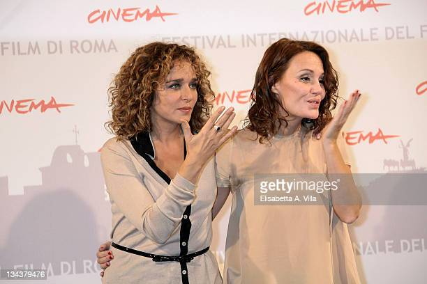 Actresses Valeria Golino and Antonella Ponziani attend the 'La Scuola E Finita' photocall during The 5th International Rome Film Festival at...