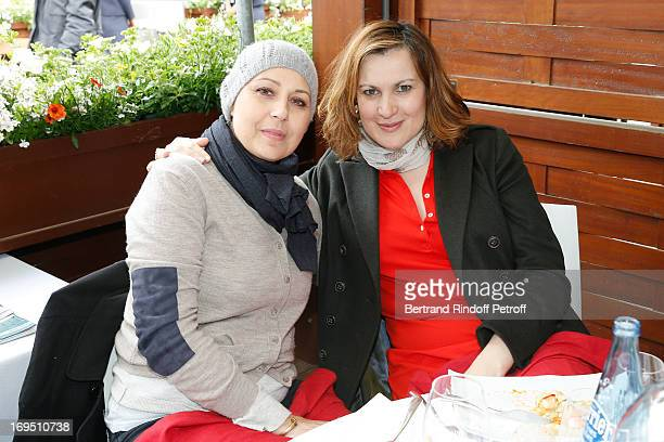 Actresses Valerie Benguigui and Armelle attend Roland Garros Tennis French Open 2013 Day 1 on May 26 2013 in Paris France