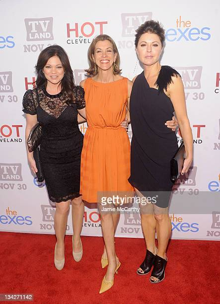 """Actresses Valerie Bertinelli, Wendie Malick and Jane Leeves attend the TV Land holiday premiere party for """"Hot in Cleveland"""" & """"The Exes"""" at SD26 on..."""