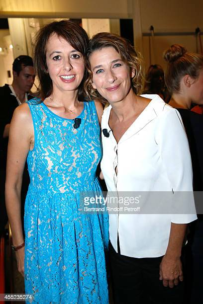 Actresses Valerie Bonneton and Isabelle Gelinas present the TV series 'Fais pas ci fais pas ça' and the theater play 'Un diner d'adieu' during the...