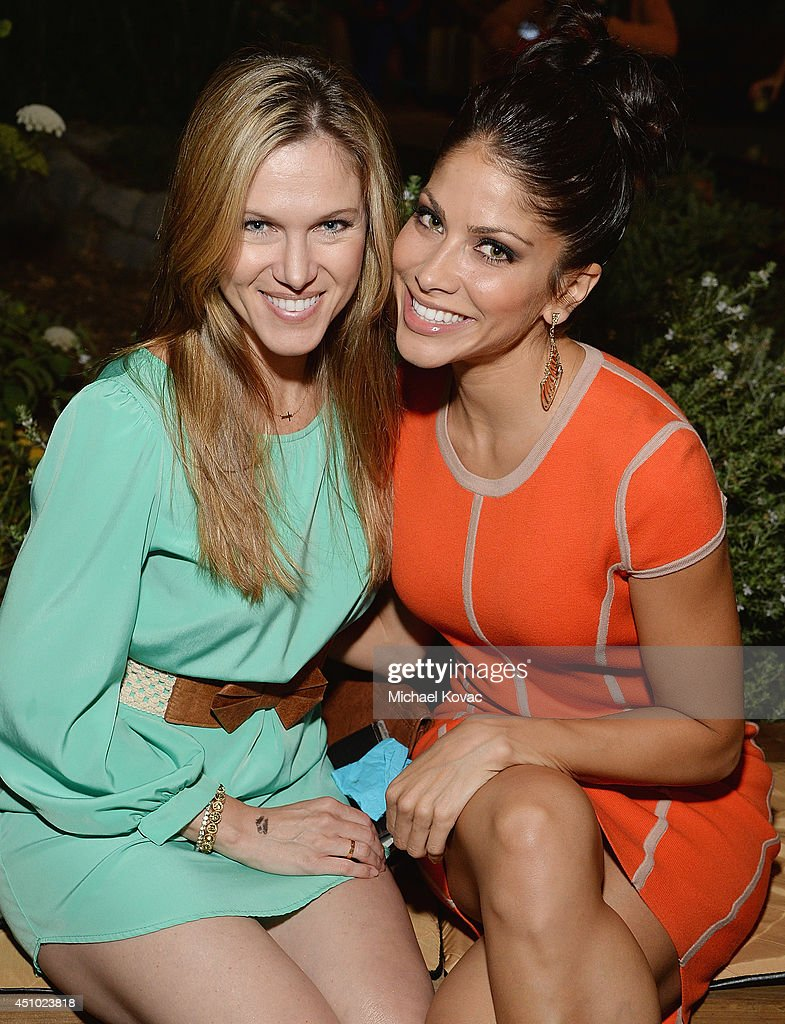 Actresses Valerie Stup (L) and Valery Ortiz enjoy the 'More Than a Cone' art auction and campaign launch benefiting Best Friends Animal Society in Los Angeles where renowned artists re-imagined the 'cone of shame' to raise awareness for animals in need at LA Plaza de Cultura y Artes on June 21, 2014 in Los Angeles, California.