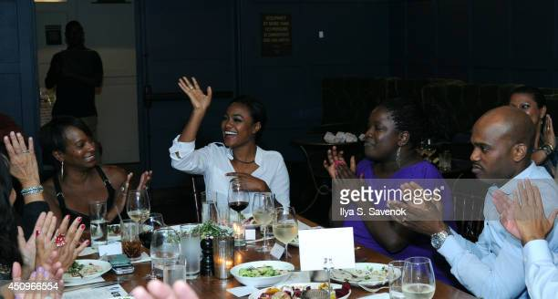 Actresses Vanessa Bell Calloway and Tatyana Ali attend the 2014 ABFF_ UP TV Aspire TV Dinner at Soho House on June 20 2014 in New York City