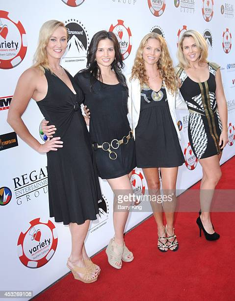 Actresses Vanessa Cater Katrina Law Ellen Hoffman and Anna Hutchison attend the 4th annual Variety's Texas Hold 'Em poker tournament to benefit 'The...