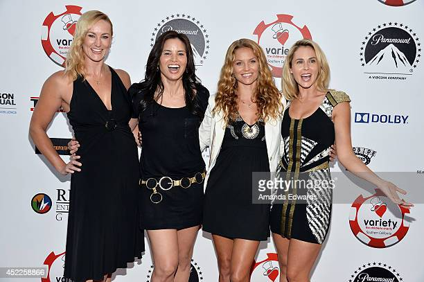Actresses Vanessa Cater Katrina Law Ellen Hollman and Anna Hutchison arrive at the 4th Annual Variety The Children's Charity of Southern CA Texas...