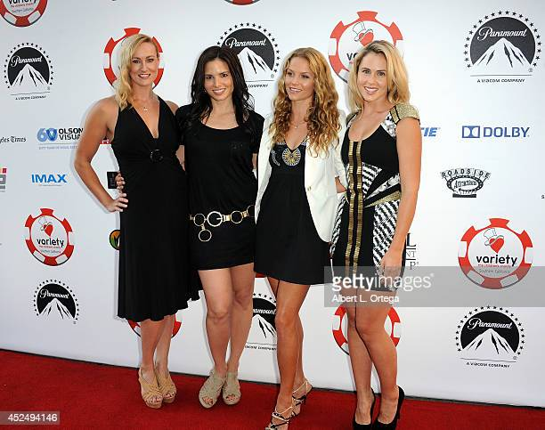Actresses Vanessa Cater Katrina Law Ellen Hollman and Anna Hutchison arrive for the 4th Annual Variety The Children's Charity Of Southern CA Texas...