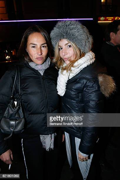 Actresses Vanessa Demouy and Lola Marois attend LouisMichel Colla the Director of the 'Theatre de la Gaite Montparnasse' Celebrates his 60th...