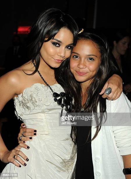 Actresses Vanessa Hudgens and sister Stella Hudgens attend after party for Summit Entertainment's premiere of 'BandSlam' held at Napa Valley Grille...