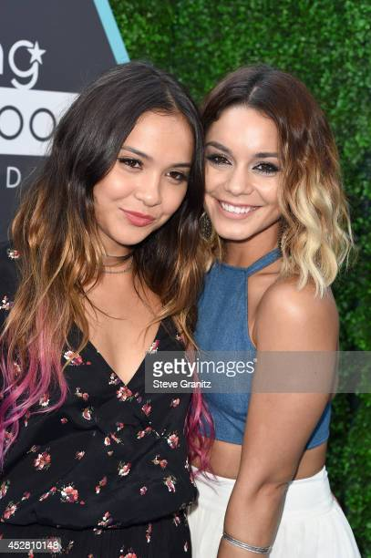 Actresses Vanessa Hudgens and Stella Hudgens attend the 2014 Young Hollywood Awards brought to you by Mr Pink held at The Wiltern on July 27 2014 in...