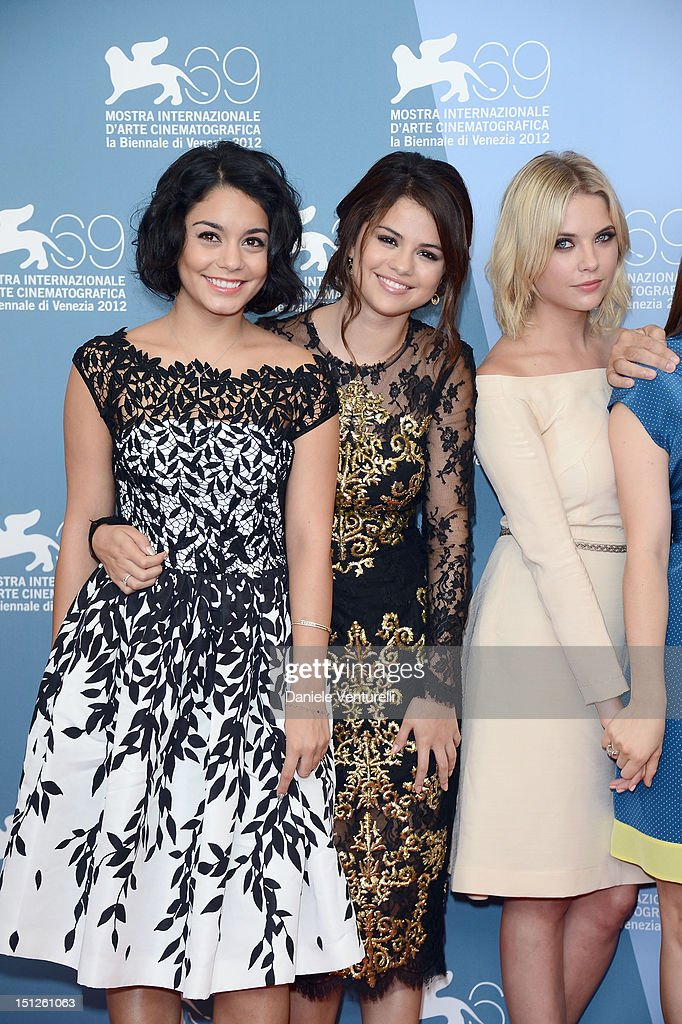 Actresses Vanessa Hudgens Selena Gomez And Ashley Benson Attend