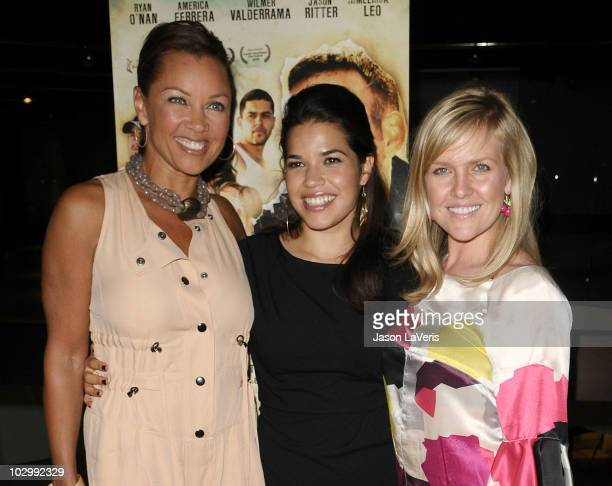 Actresses Vanessa L Williams America Ferrera and Ashley Jensen attend the premiere of 'The Dry Land' at Pacific Design Center on July 19 2010 in West...