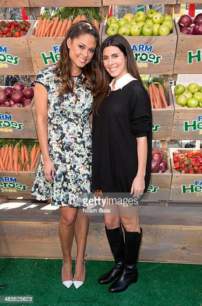Actresses Vanessa Lachey and Jamie Lynn Sigler attend 'Be A Farm Hero' at the Flatiron Pedestrian Plaza on April 9 2014 in New York City