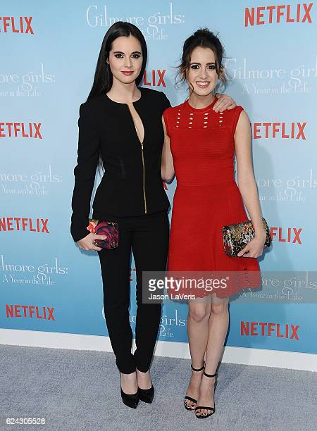 Actresses Vanessa Marano and Laura Marano attend the premiere of 'Gilmore Girls A Year in the Life' at Regency Bruin Theatre on November 18 2016 in...