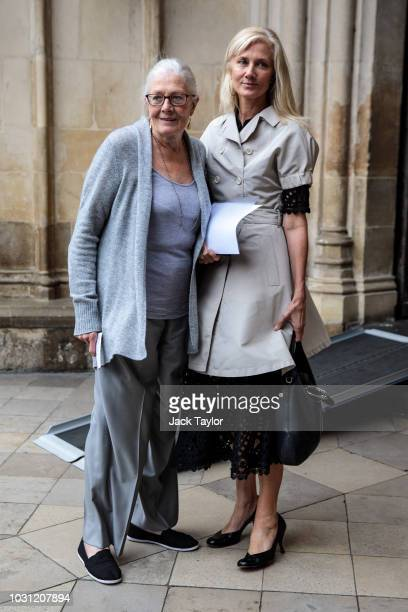 Actresses Vanessa Redgrave and Joely Richardson arrive at Westminster Abbey for a memorial service for theatre great Sir Peter Hall OBE on September...
