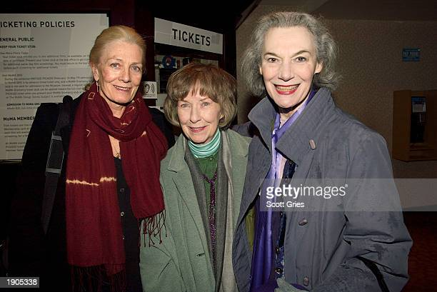 Actresses Vanessa Redgrave Betsy Blair and Marian Seldes attend a tribute and special screening of the late director Karel Reisz's first feature film...