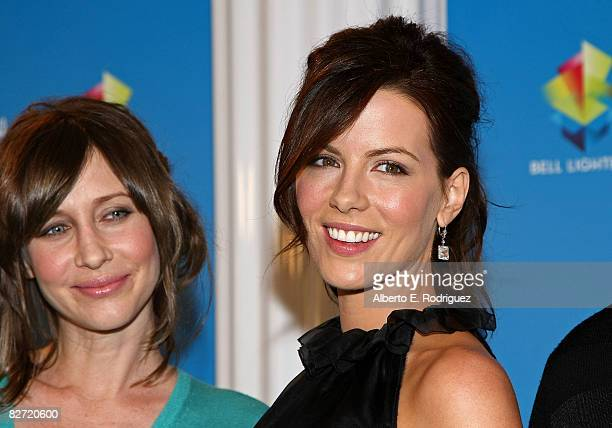 Actresses Vera Farmiga and Kate Beckinsale speak at the Nothing But The Truth press conference during the 2008 Toronto International Film Festival...