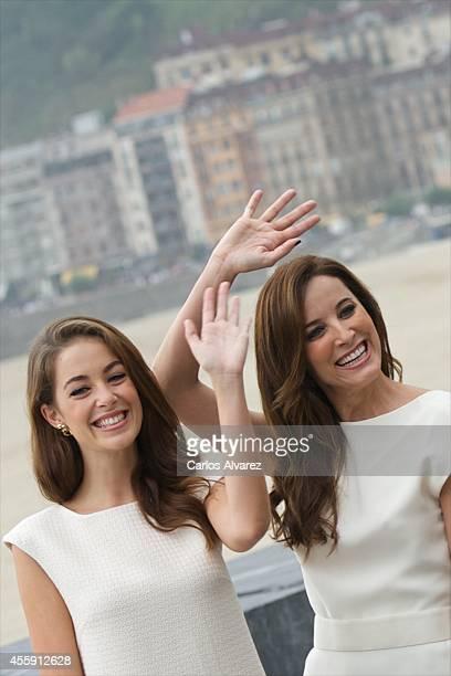 Actresses Victoria Guerra and Maria Joao Bastos attend the 'Casanova Variations' photocall at the Kursaal Palace during the 62nd San Sebastian...